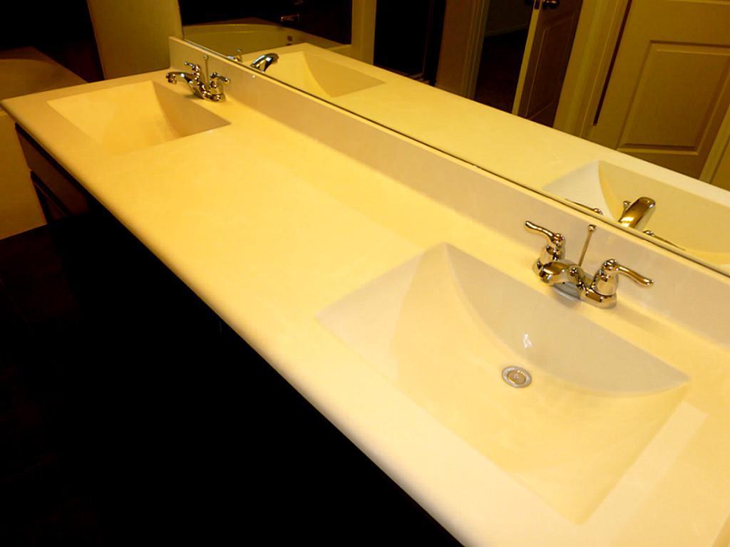 White Bathroom Vanity Tops