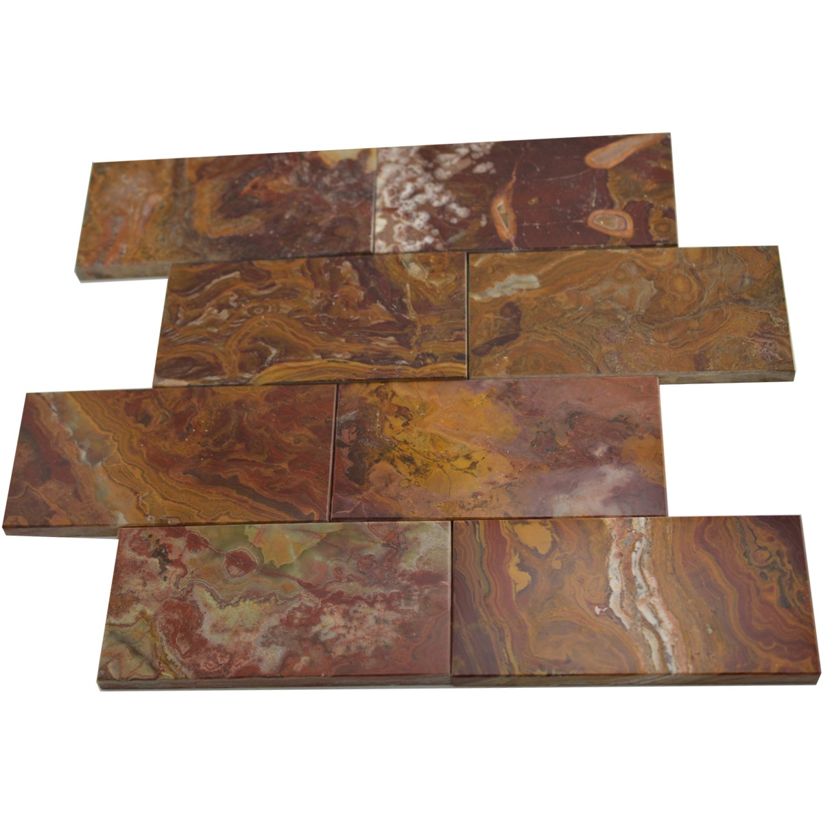 Red Onyx Tiles Wall