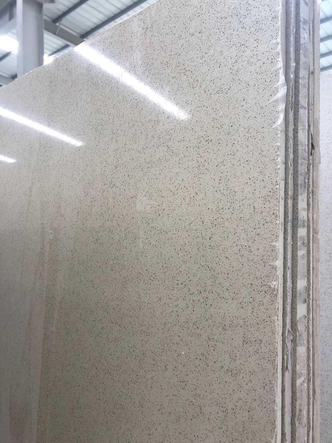 China glass panel quartz slab 1102a
