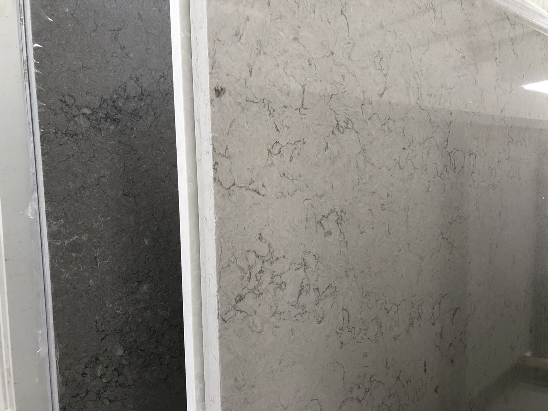 grey black quartz slab quartz countertop 93129348
