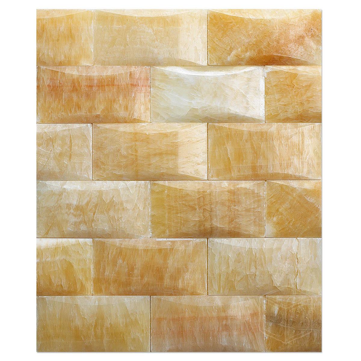 yellow onyx tile wall