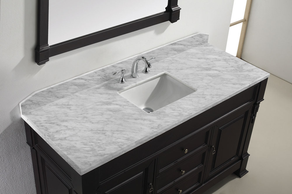 vanity carrera marble top
