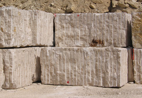 beige limestone blocks