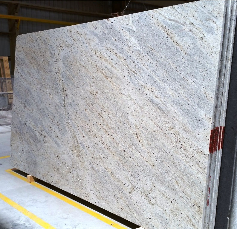 kashmir white granite slab