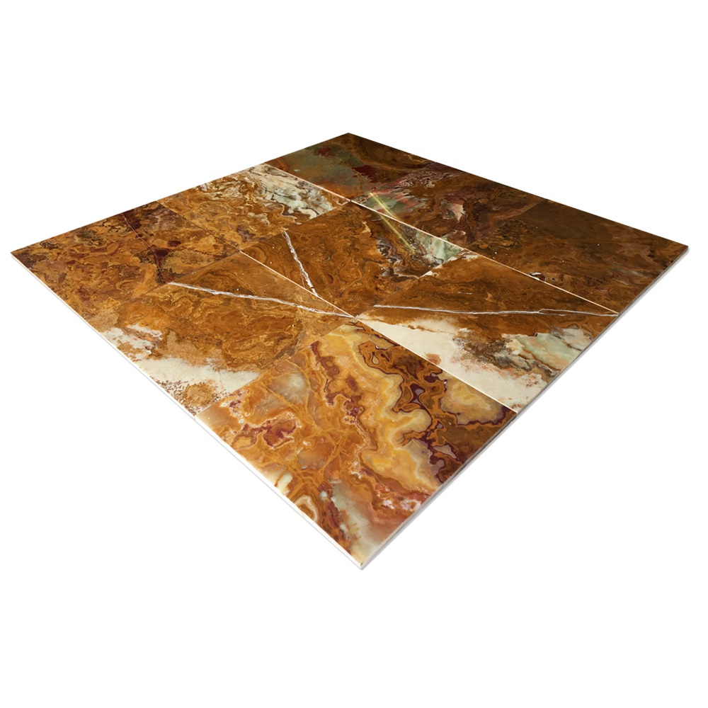 Brown Onyx Tile Floor
