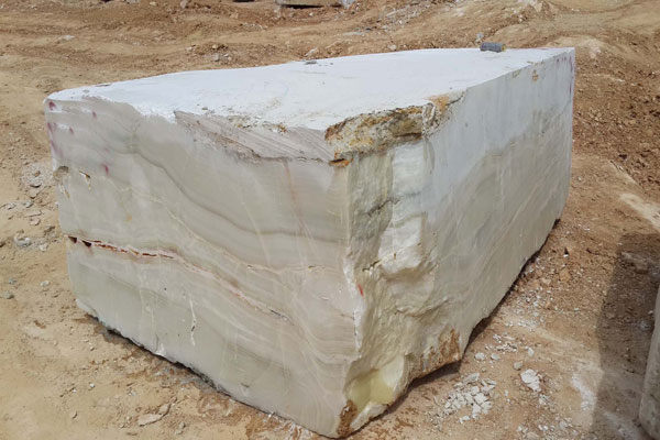 light Onyx Stone Block