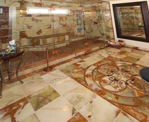 Onyx Green Tiles Floor