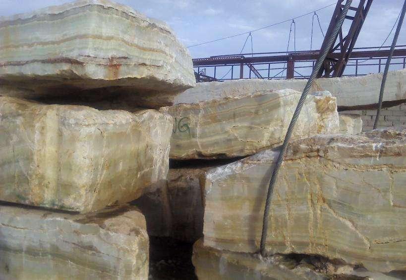 onyx green stone block