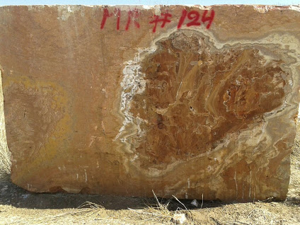 red onyx block stone