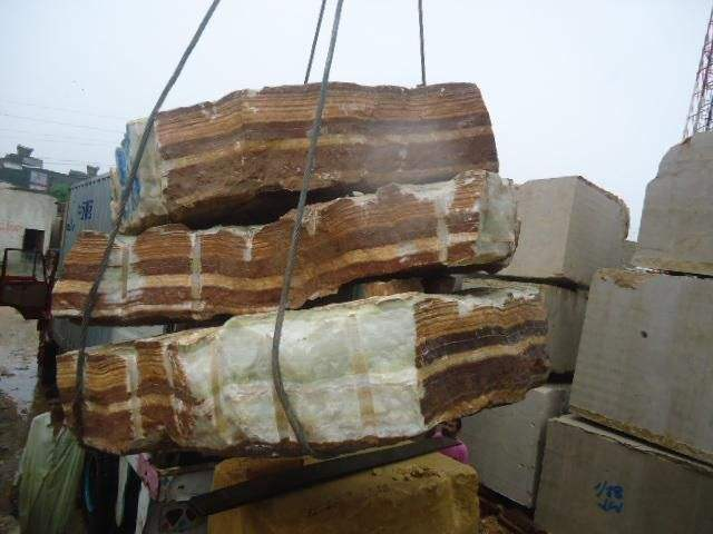 Green Stone Onyx Block