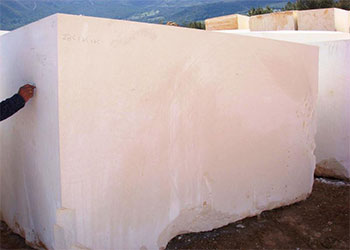 White Limestone Blocks