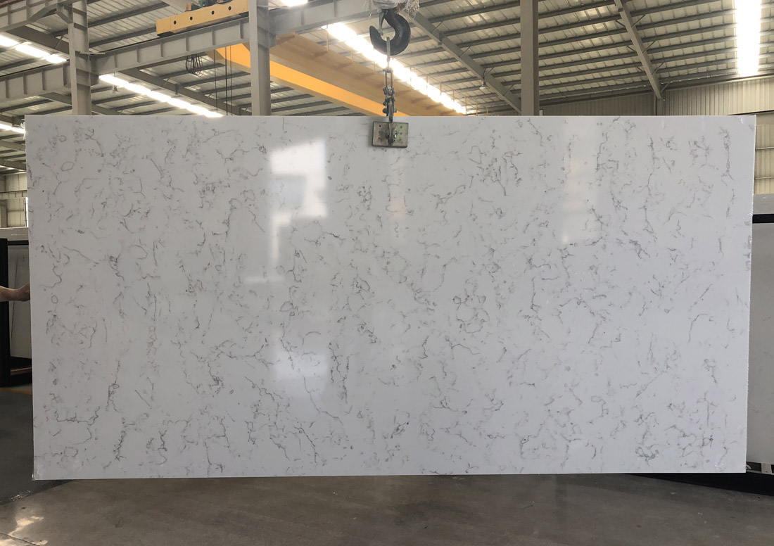 white quartz slab quartz countertop 5103