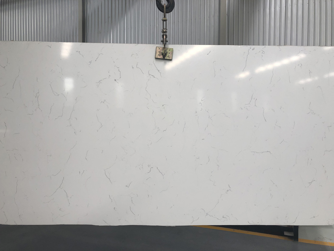 white quartz slab quartz countertop 5112