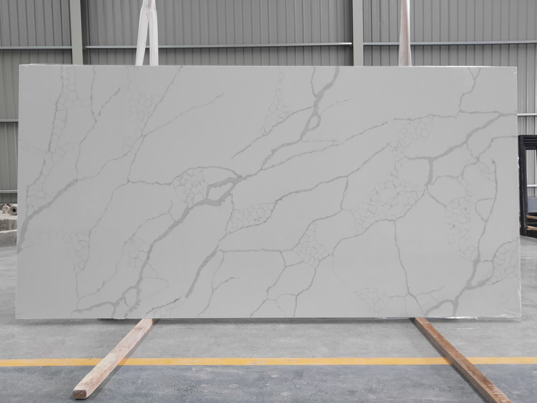 white quartz slab quartz countertop 8826