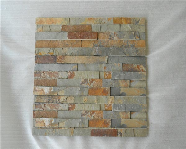 Chinese rusty slate veneer wall cladding tile