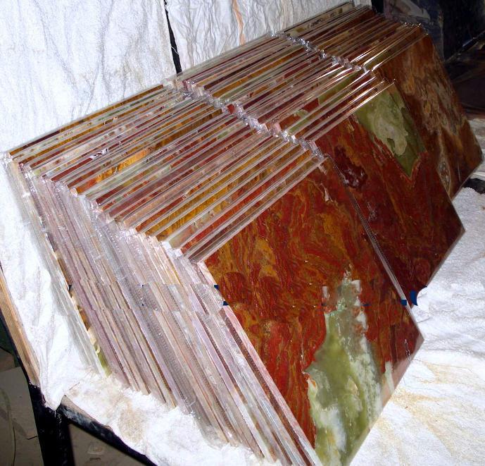 Multi Red Onyx Tiles