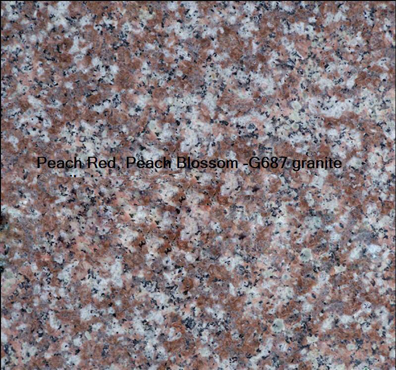 Peach Red - Peach Blossom -G687 granite