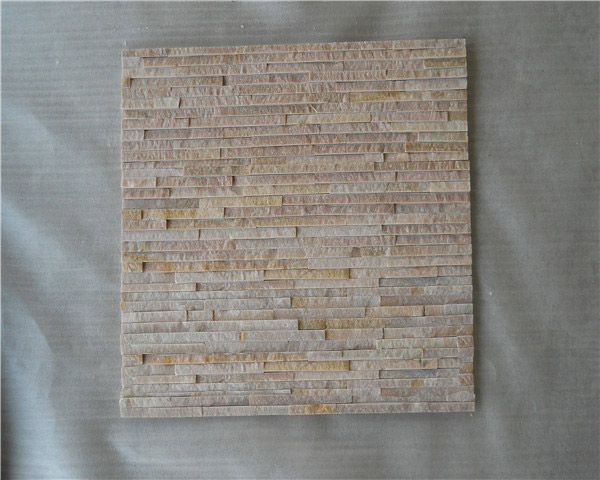 Pink color culture slate wall tile