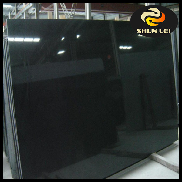 Natural polished black granite stone tile and slabs