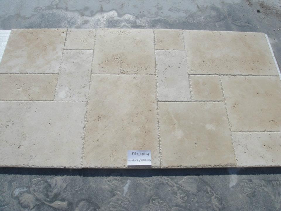 travertine cross cut