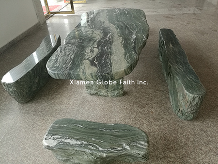 green fantasy marble table