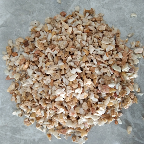small size of gravel stone aggregate stone -yellow