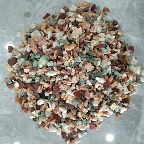 small size of gravel stone aggregate stone -mixed
