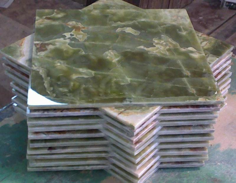 Dark Green Onyx Tiles