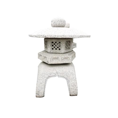 carved granite stone Japanese style lantern