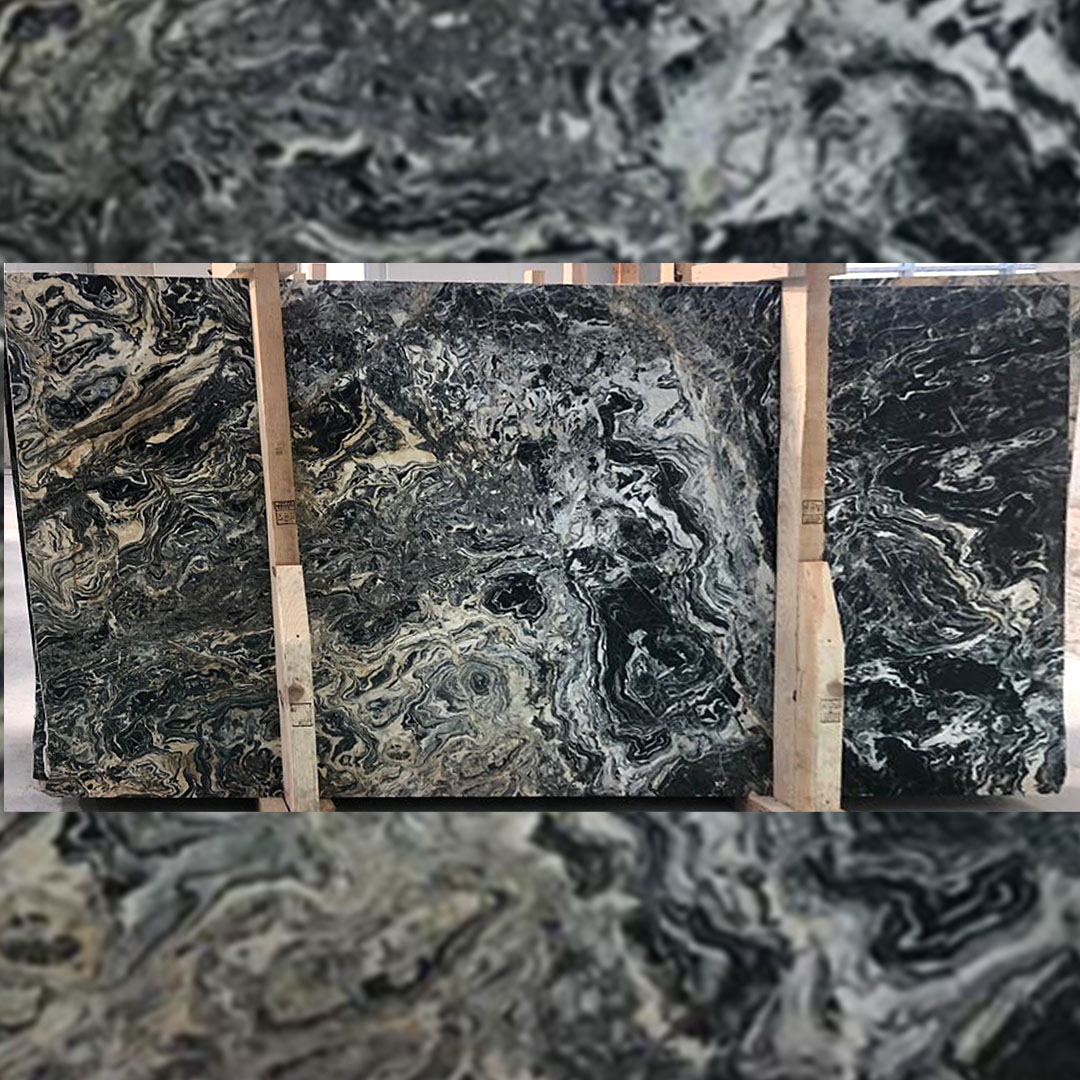 Nero Pikaso Marble Slabs from Turkey