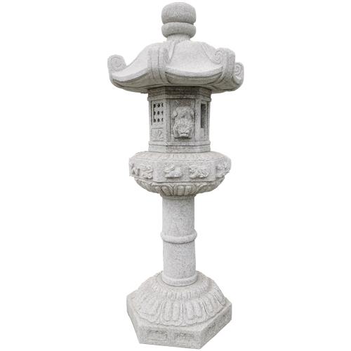carved granite stone lantern JN-007