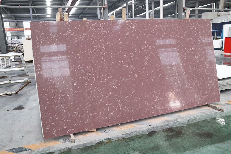 Artificial Marble Like Quartz Stone Slabs with Sparkle