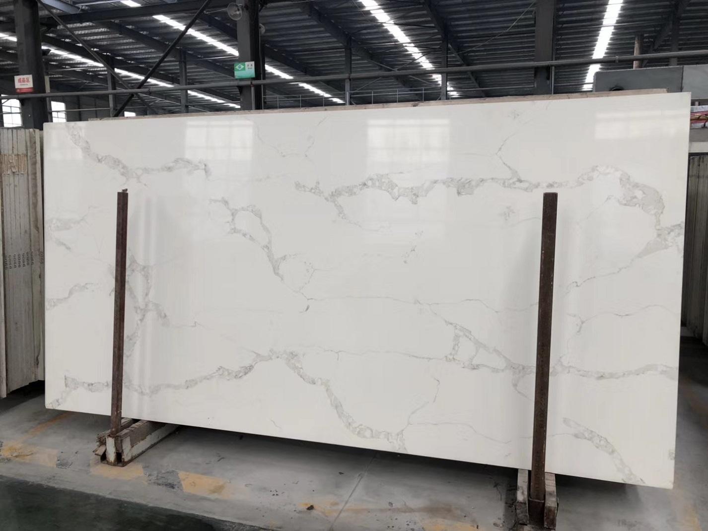 calacatta white quartz stone