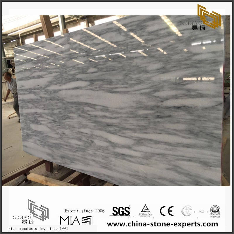 Hot Sell White Black Jade Marble for Home Design YQW-MS081607