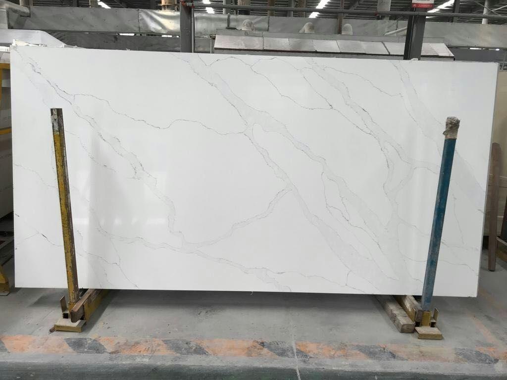 white statuary quartz slab