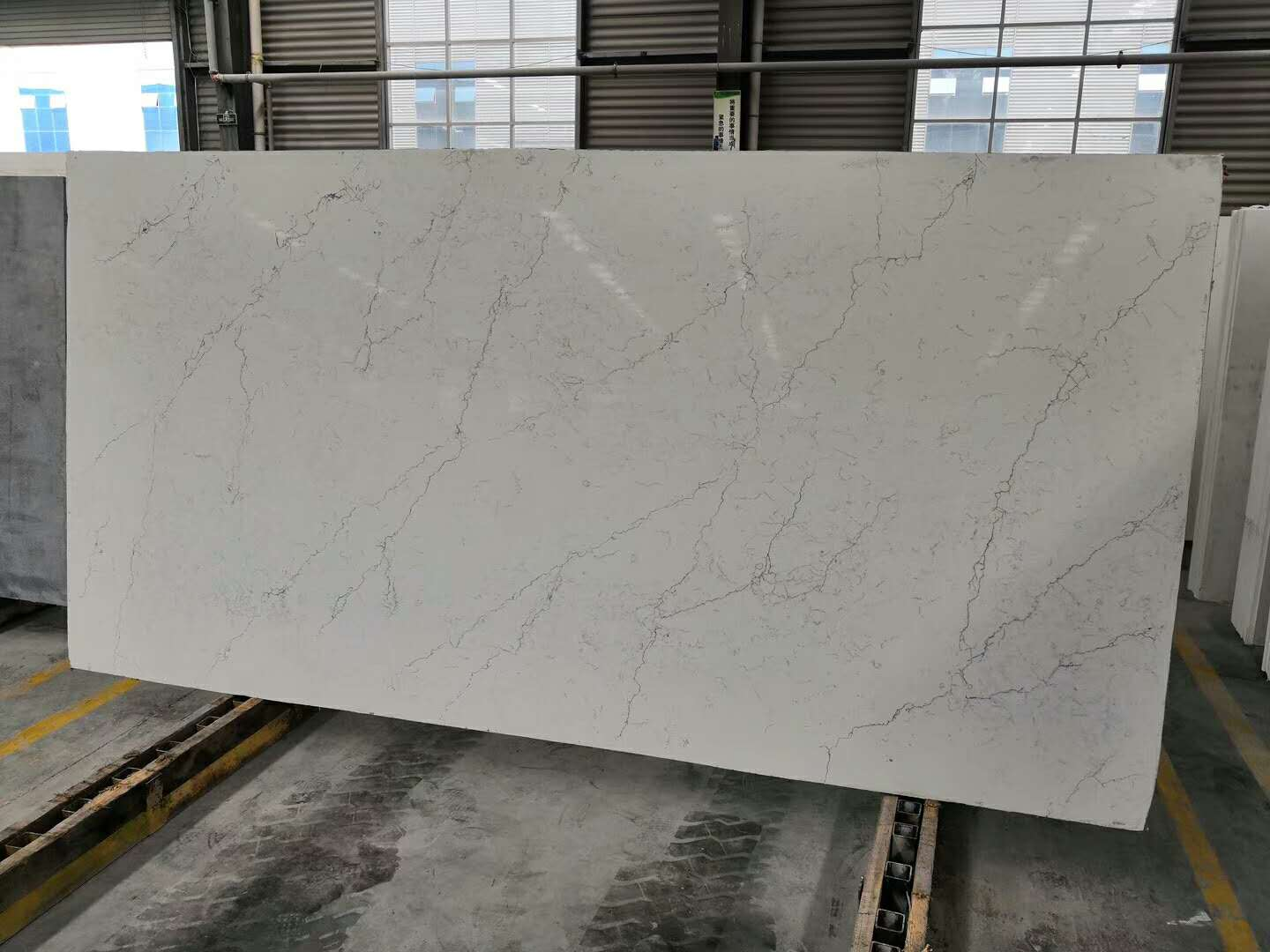 Calacatta Quartz Stone Slabs Polished White Slabs