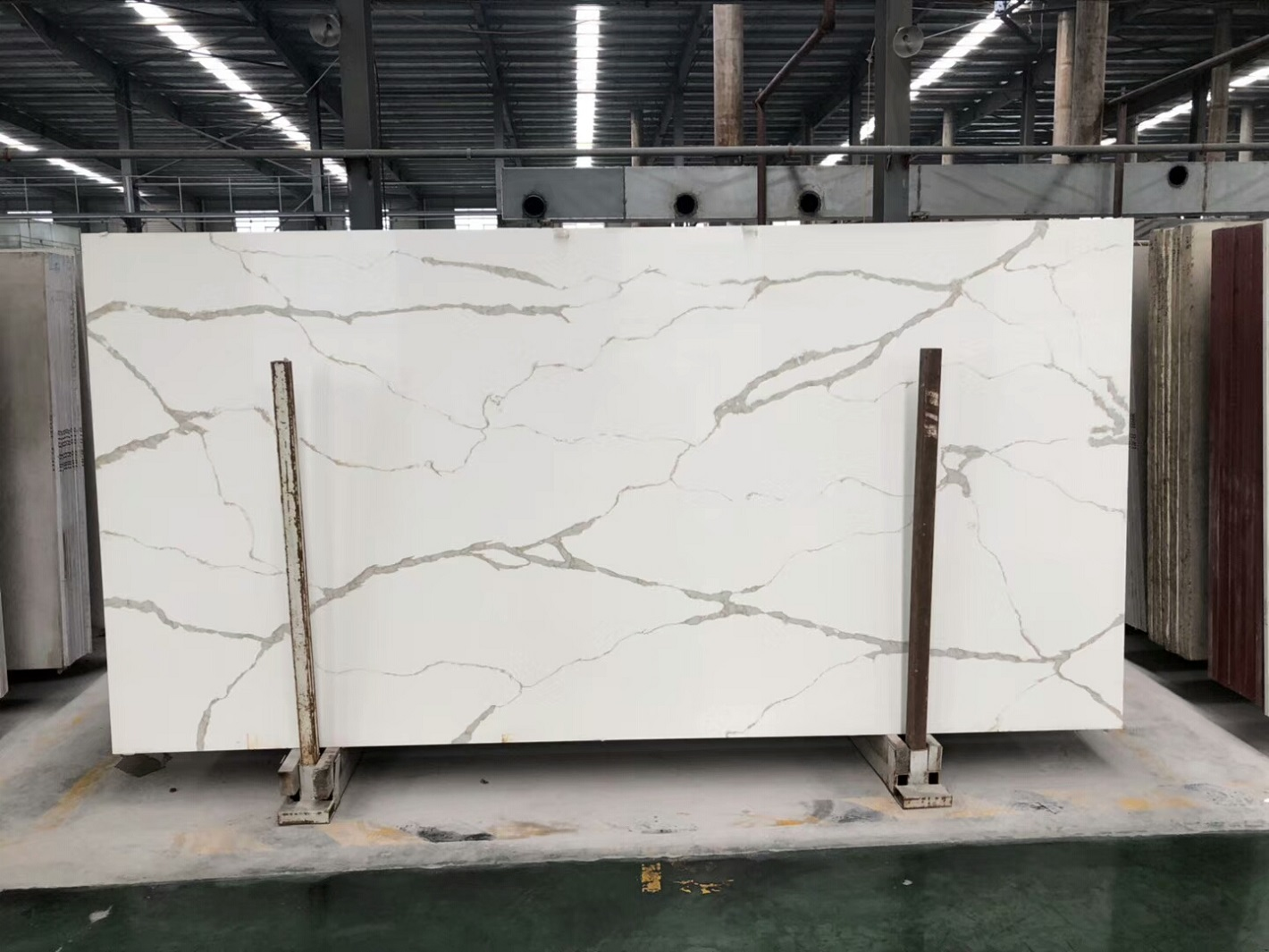 white marble quartz slab