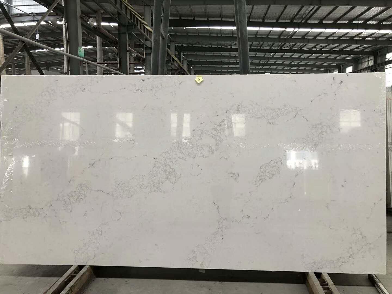 Calacatta white quartz slabs for countertops