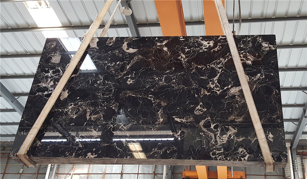 Black Flower Marble Chinese Black Natural Marble Tiles Slabs for Wall Coverings Countertop Floor Covering