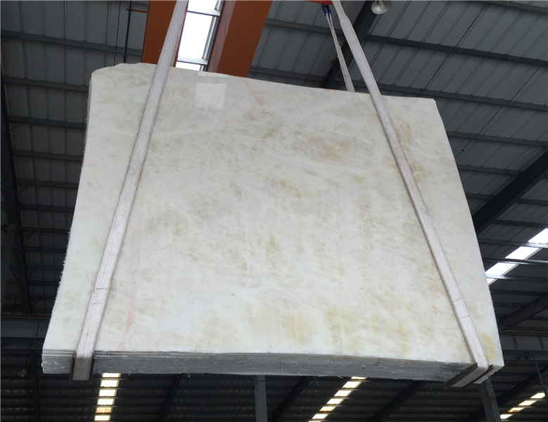 White Crystal Onyx Translucent Jade Stone Wall Covering Tiles