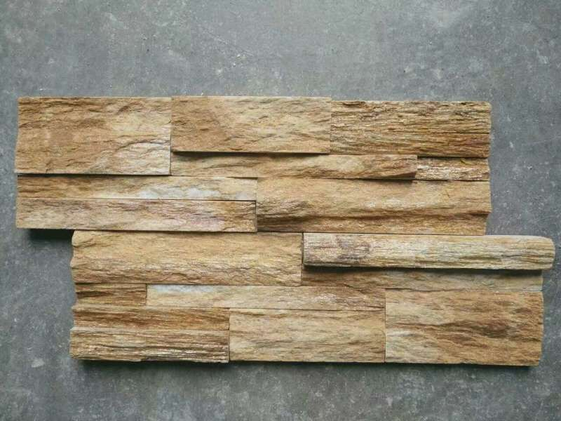 natural slate stacked stone panel