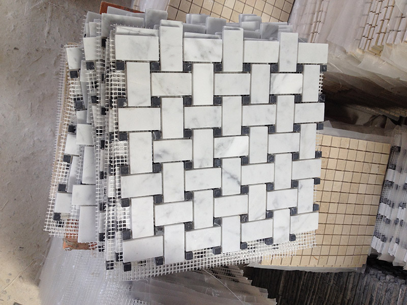Bianco carrarra tiles marble mosaic tile wall mounted mesh tiles
