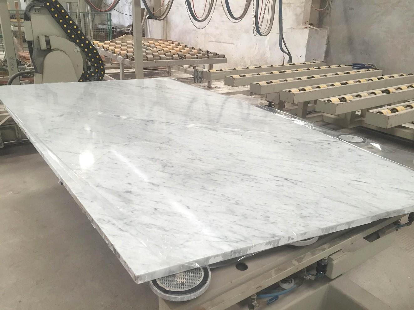 full 2cm & 3cm bianco carrara marble slab