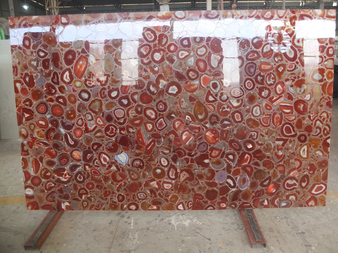 Red Agate Stone Slab