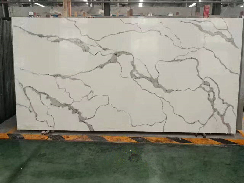 Top Quality Calacatta White Quartz Slabs