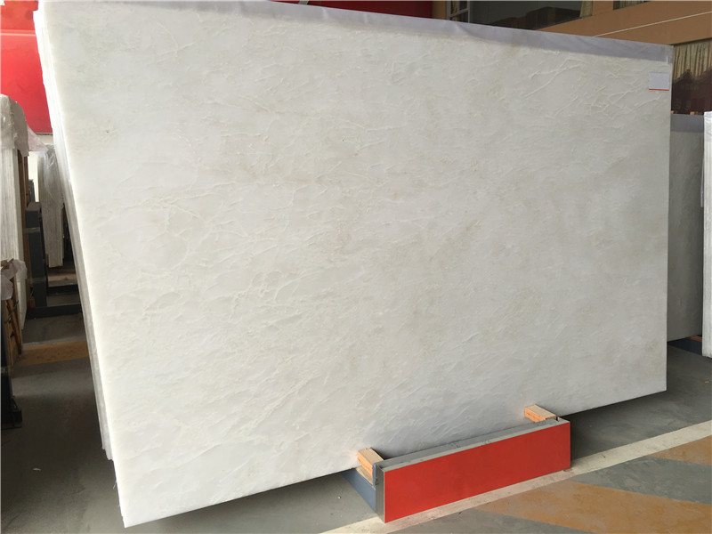 Chinese Pure White Onyx Slabs Tiles for Wall Coverings Royal White Onyx