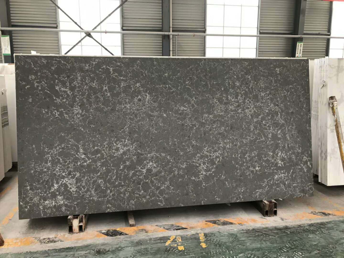 Marble Look Like Sparkle Artificial Quartz Stone Slabs