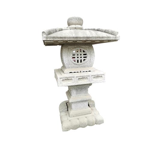 granite carved japanese style stone lantern JN-012