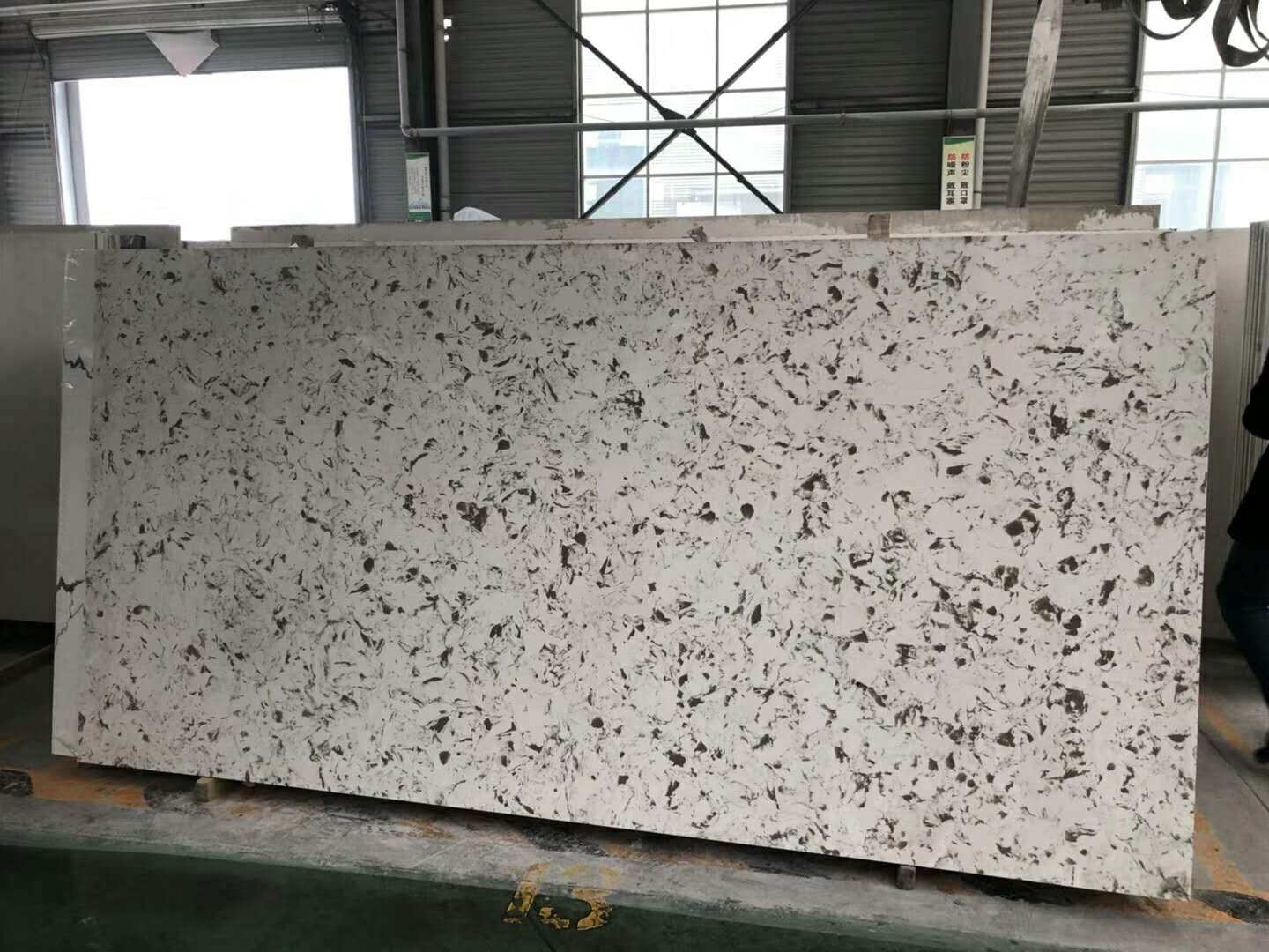 Marble Like Sparkle Artificial Quartz Slabs