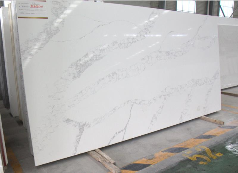 China Calacatta Quartz Slabs for Countertops
